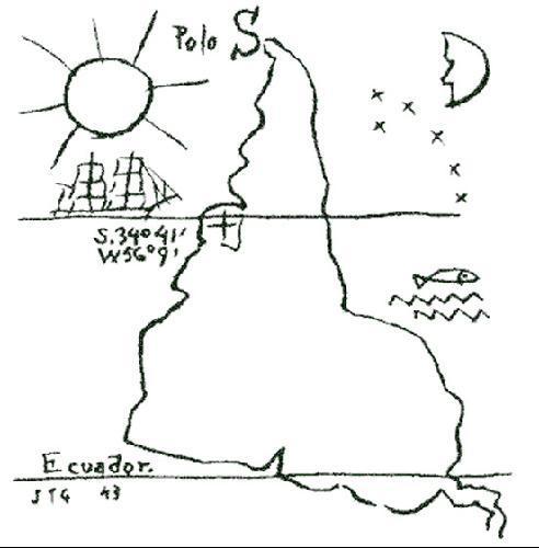 América Invertida de Joaquín Torres García (1943)